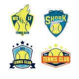 Tennis logo set Royalty Free Stock Photography