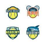 Tennis logo set Royalty Free Stock Image