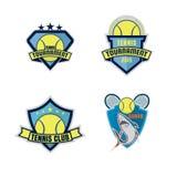 Tennis logo set Stock Photo