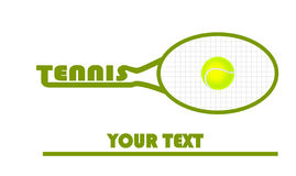 Tennis logo with tennis ball Stock Image