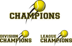 Tennis logos. A series of three tennis related logos Stock Photography