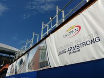 Tennis, Louis Armstrong Stadium Coming en 2018, NYC, NY, Etats-Unis photographie stock libre de droits