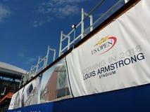 Tennis Louis Armstrong Stadium Coming i 2018, NYC, NY, USA royaltyfri fotografi