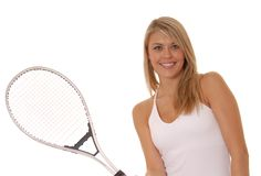 Tennis-Mädchen zwei lizenzfreie stockbilder