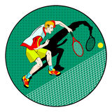 Tennis man player. vector symbol Royalty Free Stock Photos