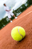 Tennis match Royalty Free Stock Photos