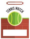 Tennis Match Flyer Illustration Stock Photography