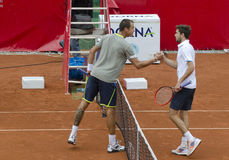 Tennis match - Gilles Simon vs Lukas Rosol Royalty Free Stock Image