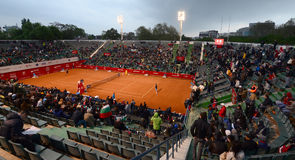 Tennis match - Grigor Dimitrov vs. Sergiy Stakhovsky Stock Images