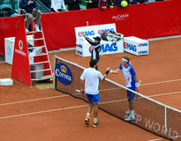 Tennis match - Robin Haase vs Denis Istomin Royalty Free Stock Photo