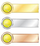 Tennis medals. Isolated on the white background. Vector Stock Photography