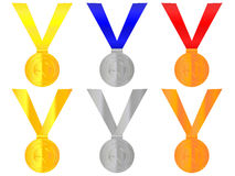 Tennis Medals Royalty Free Stock Images