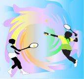 Tennis n'importe qui illustration stock