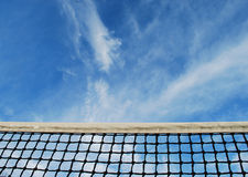 Tennis Net. Here is an image of a Tennis net from the courts perspective Royalty Free Stock Photo