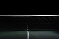 Tennis Net. A tennis net at night Royalty Free Stock Photo