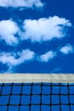 Tennis net. With blue sky in the background stock photography