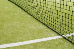 Tennis Net. And white line converge Royalty Free Stock Photo