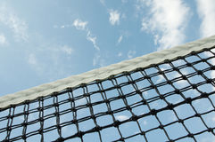 Tennis net. Against the sky Stock Images