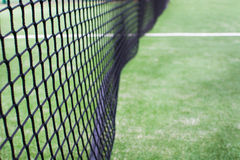 Tennis net close up. On a tennis court Royalty Free Stock Photography