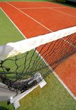 Tennis net and court Royalty Free Stock Photos