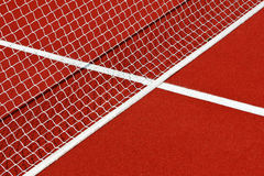 Tennis net and lines Royalty Free Stock Photo