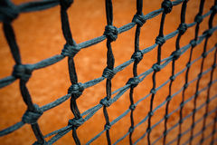 Tennis net. On the playground Royalty Free Stock Photos