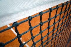 Tennis net. On the playground stock photo