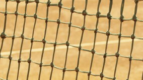 Tennis net with shallow depth of field. Royalty Free Stock Photos
