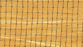 Tennis net with shallow depth of field. stock video footage
