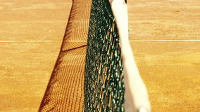 Tennis net with shallow depth of field. Royalty Free Stock Photo