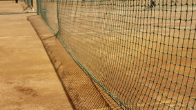 Tennis net with shallow depth of field. Royalty Free Stock Photography