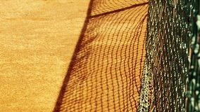 Tennis net with shallow depth of field stock footage