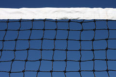 Tennis Net and Sky. Tennis Court Net and rich deep blue sky royalty free stock photos
