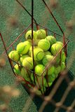 Tennis Net and Tennis Balls Royalty Free Stock Photo