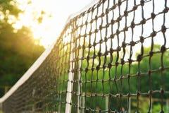 Tennis netto op hof royalty-vrije stock afbeelding