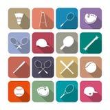 Tennis- och baseballsymboler, illustration Royaltyfria Foton