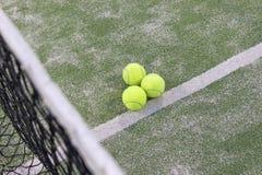 Tennis oder Paddelkugeln Stockbilder