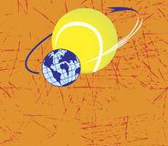 Tennis orbit Royalty Free Stock Image