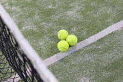 Tennis or paddle balls Stock Images