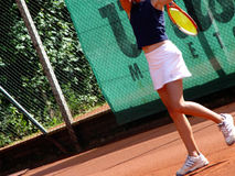 Tennis player. Girl on the court Stock Photo