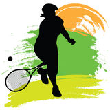Tennis Player. Illustration of a tennis player Royalty Free Stock Images