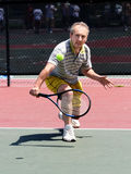 Tennis player. Middleage man playing tennis Royalty Free Stock Image