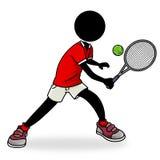 Tennis player. Silhouette-man playing tennis icon Royalty Free Stock Photos
