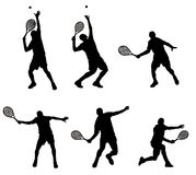 Tennis player. Abstract vector illustration of tennis player silhouette Royalty Free Stock Images