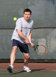 Tennis player. Young man playing tennis Stock Images