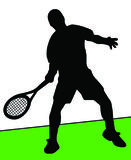 Tennis player. On grass Royalty Free Stock Image