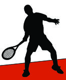 Tennis player. On clay Royalty Free Stock Photography