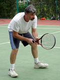 Tennis player. Waiting Royalty Free Stock Photos