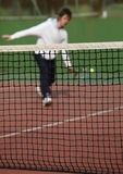 Tennis player in action Stock Images
