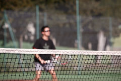 Tennis player in action Stock Image